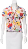 Tucker Silk Floral Top
