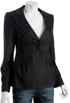Nanette Lepore black crosshatched wool 'Detective' jacket