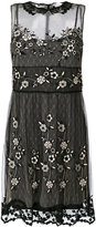 RED Valentino embroidered mesh mini dress - women - Polyester - 40