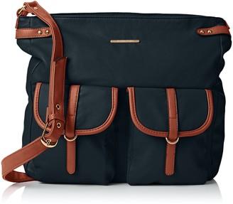 SWANKYSWANS Womens Gigi School PU Leather Cross-Body Bag Black