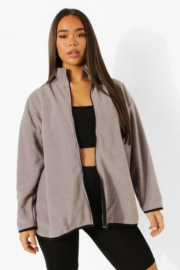 boohoo Oversized Zip Through Fleece