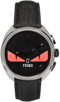 Fendi Silver and Black Momento Bugs Watch