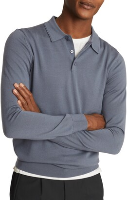Reiss Trafford Long Sleeve Wool Polo