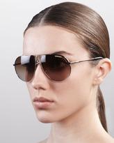 Aviator Sunglasses, Shiny Gold