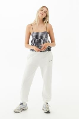 Urban Outfitters Olivia Gingham Tiered Peplum Babydoll Cami - Blue XS at