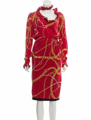 Balenciaga Silk Printed Dress w/ Tags