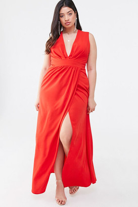 Forever 21 Plus Size Plunging Neck Gown
