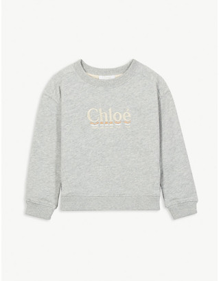 Chloé Logo-print cotton sweatshirt 4-14 years