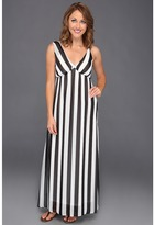 Type Z Kirisi Vertical Stripe Maxi Dress (Black) - Apparel