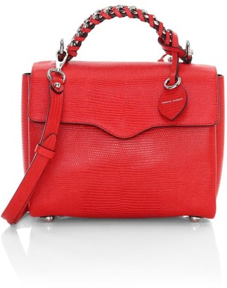 Rebecca Minkoff Chain-Trimmed Leather Satchel