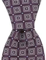 Roundtree & Yorke Frame Dot Narrow Silk Tie