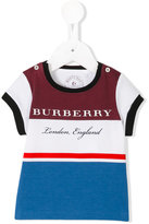 Burberry striped T-shirt - kids - Cotton - 9 mth