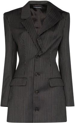Y/Project Asymmetric Striped Wool Blazer