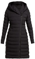 Moncler Barge Asymmetric-zip Quilted Down-filled Coat - Womens - Black
