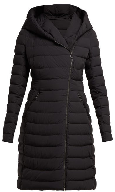 626c7b6d6 Barge Asymmetric Zip Quilted Down Filled Coat - Womens - Black