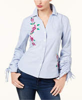 INC International Concepts Cotton Embroidered Shirt, Created for Macy's