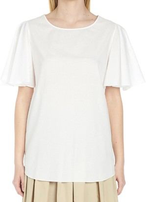Boutique Moschino Flared Sleeves Top