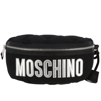 Moschino Belt Bag Pouch In Quilted Nylon With Big Logo