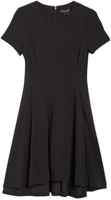DKNY Short Sleeve High/Low A-Line Dress