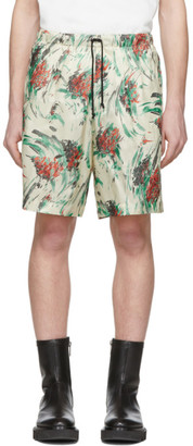 Dries Van Noten Off-White and Multicolor Floral Drawstring Shorts