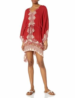 Angie Women's Juniors Printed Kaftan Dress