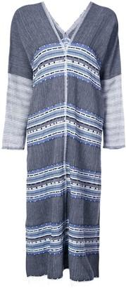 Lemlem Striped V-Neck Dress