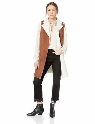 BCBGeneration Women's Shearling-Knit Long Vest