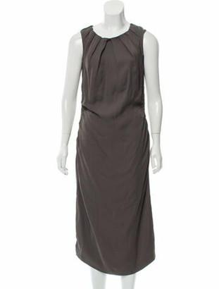 Prada Sleeveless Midi Dress Grey