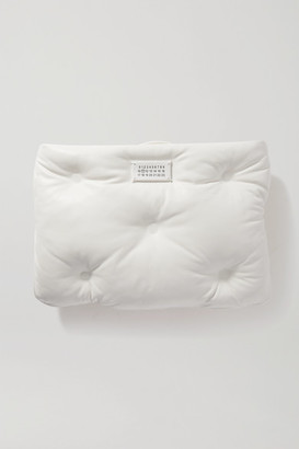 Maison Margiela Glam Slam Quilted Leather Clutch - White