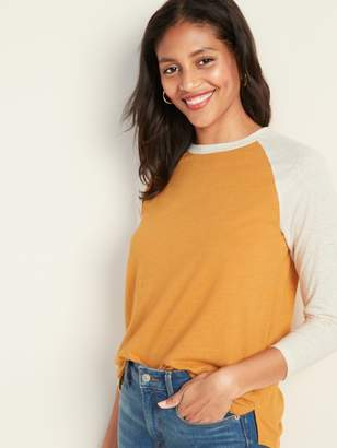 Old Navy Color-Blocked Raglan Bracelet-Sleeve Tee for Women