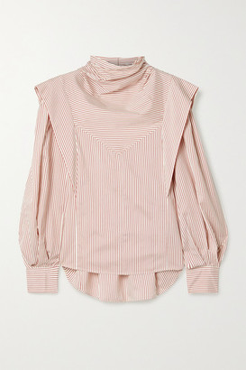Isabel Marant Bianca Layered Striped Silk-twill Blouse