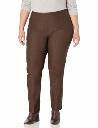 Slim Sation SLIM-SATION Women's Plus-Size Pant with Real Front L Pockets
