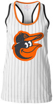 5th & Ocean Women's Baltimore Orioles Pinstripe Glitter Tank Top