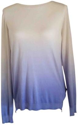 Blumarine Blue Silk Top for Women