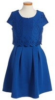 Ten Sixty Sherman Girl's Laser Cut Popover Dress
