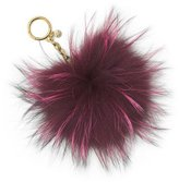 MICHAEL Michael Kors Large Fur Pompom Keychain, Plum