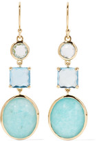 Ippolita Rock Candy® 18-karat Gold, Topaz And Amazonite Earrings - one size