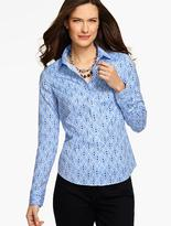 Talbots The Perfect Long-Sleeve Shirt - Geo Diamonds