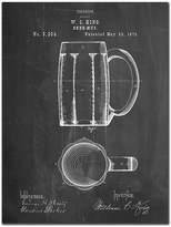 Chalkboard Beer Mug Patent Print