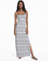 White House Black Market Striped Knit Sneaker Maxi Dress