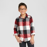 Cat & Jack Boys' Long Sleeve Button Down Flannel Shirt Red
