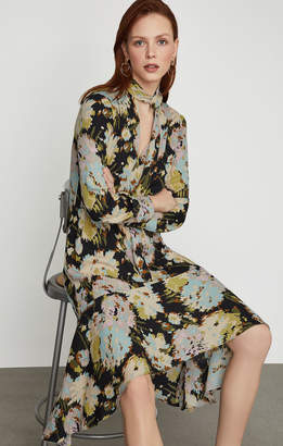 BCBGMAXAZRIA Flora Watercolor Mums Dress