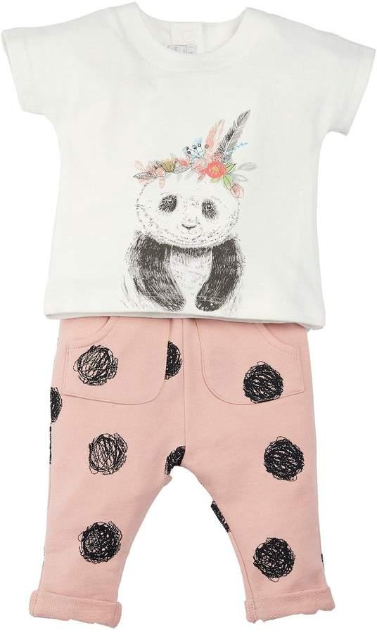 Mamas and Papas Baby Girls T-Shirt & Spot Jogger Outfit