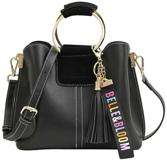 Belle & Bloom TWI100BLK Twilight Black Zip Top Crossbody Bag