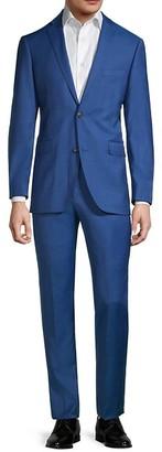 Saks Fifth Avenue Trim-Fit Textured Wool Suit