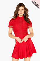 Little Mistress Red Lace Mini Dress