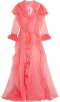 Gucci Ruffled Silk-organza Gown - Pink