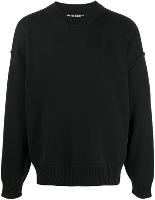 Palm Angels Logo Embroidered Sweater