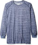 Russell Athletic Men's Big and Tall LS Dri-Power Pieced Under Arm With LC r