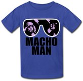 OHYEYE Kid's Macho Man T Shirts For Boys Girls RoyalBlue